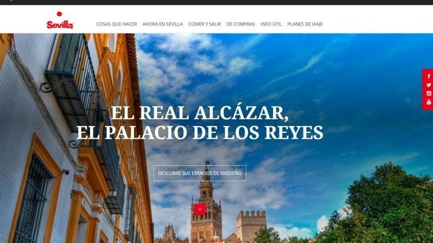 Captura de la página principal de Visita Sevilla