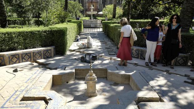 Obras en los Jardines del Real Alcázar