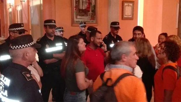 La protesta llevada a cabo por Lipasam el pasado 7 de junio acabó en desalojo