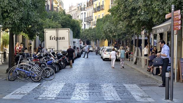 Vista de la calle Mateos Gago en Sevilla