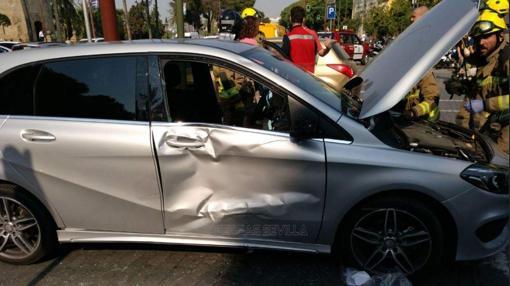 Así quedó el vehículo tras el accidente