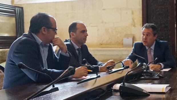 Espadas y Millán, en la reunión sobre el BTR