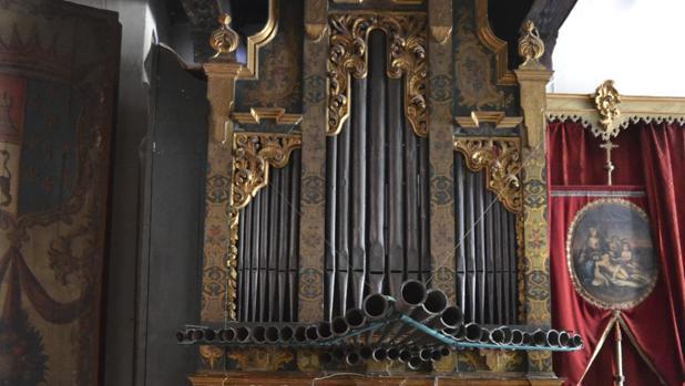 El órgano de Santa Inés es uno de los más antiguos de Sevilla