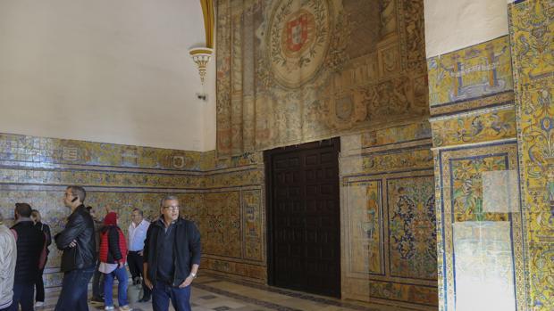 Entrada a la Sala Cantarera, que forma parte del Palacio Gótico del Real Alcázar