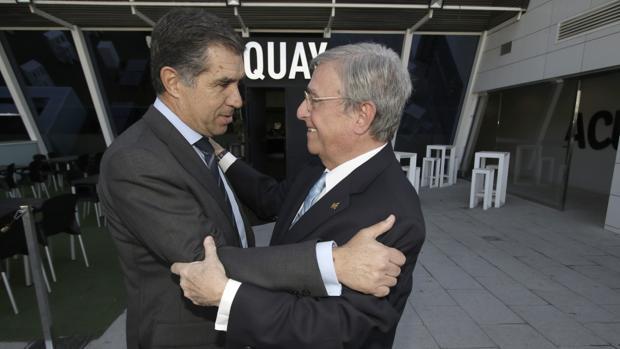 Antonio Moreno Andrade junto a Lorenzo del Río en su despedida la pasada semana