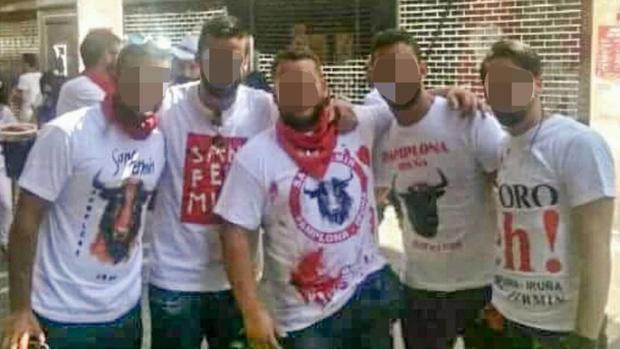Los cinco jóvenes sevillanos que han sido juzgados en Navarra