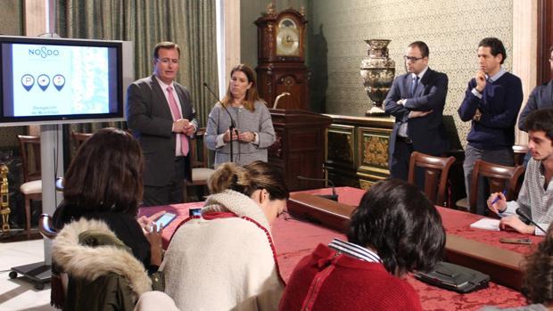 Juan Carlos Cabrera, presentando la aplicación
