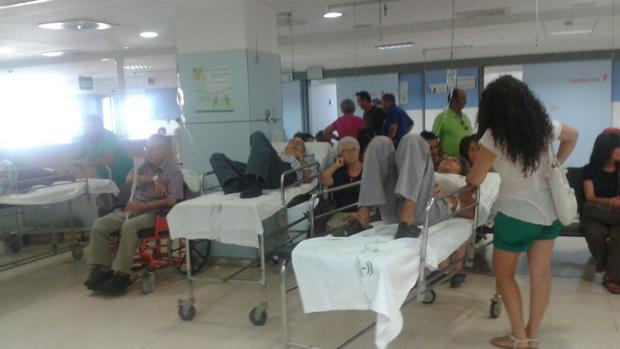 Sala de Urgencias repleta de gente