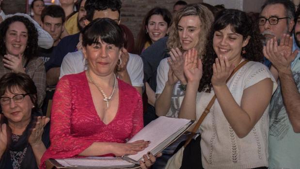 Rocío Muñoz durante una presentación en Rosario