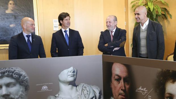 José Manuel Girela, Miguel Ruz, Fernando Rodríguez Villalobos y Antonio Muñoz
