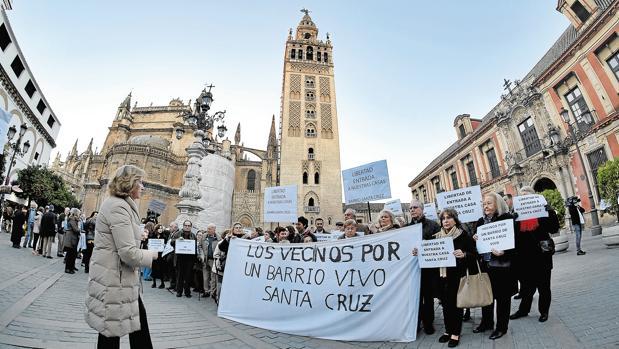 Vecinos de Santa Cruz movilizándose