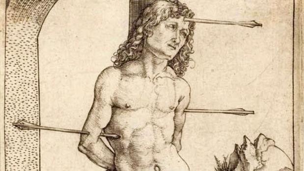 Grabado de Durero del martirio de San Sebastián