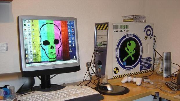Imagen de archivo de piratería