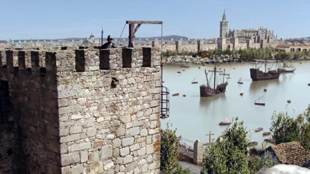 Recreación del Castillo de San Jorge en la serie «La Peste»