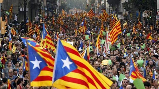 Imagen de la manifestación del 11-S en Barcelona