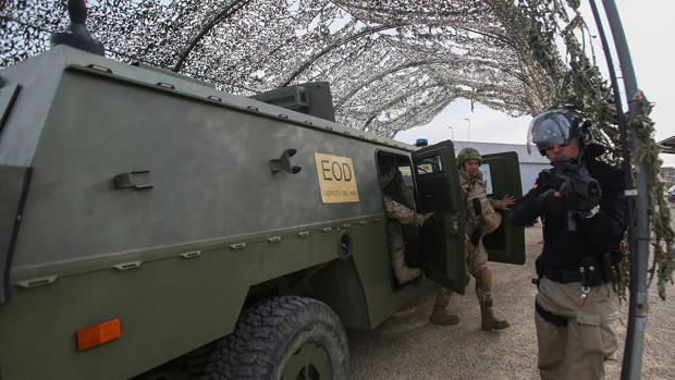 Efectivos del Ejército se han unido al ejercicio
