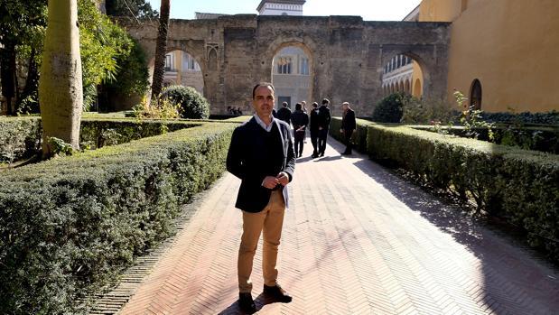 Javier Millán, portavoz de Ciudadanos, en el Real Alcázar de Sevilla