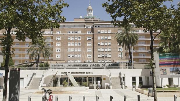 Hospital Virgen del Rocío, donde han estado ingresado enfermos por infección meningocócica