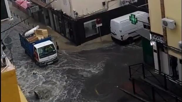 El temporal inunda zonas del Aljarafe
