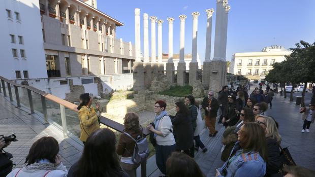 Templo y teatro romano en Córdoba