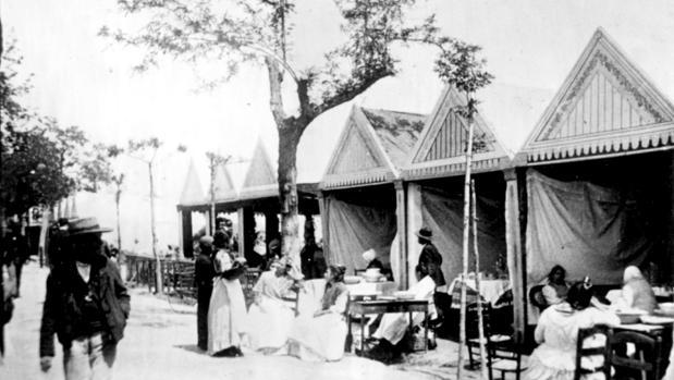 La Feria de Sevilla en el año 1900