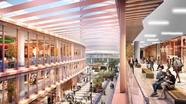 Recreación del centro comercial Torre Sevilla