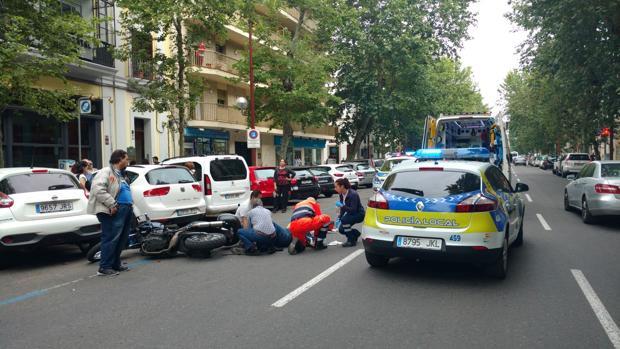 Accidente de Marqués de Parada entre moto y turismo