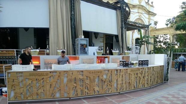La Sala «Casino», mientras se preparaba para la inauguración