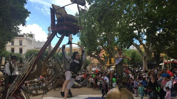 Uno de los espectáculos representados en la Alameda
