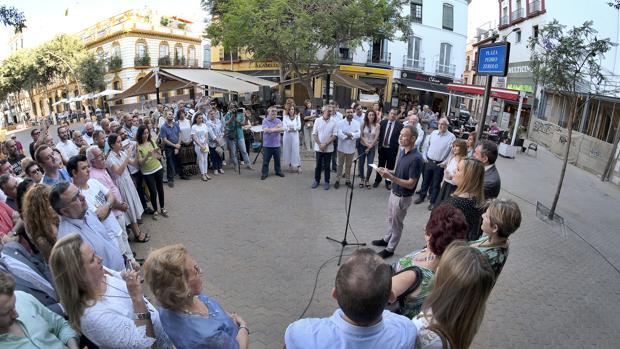Inauguración de la Plaza Pedro Zerolo en Sevilla