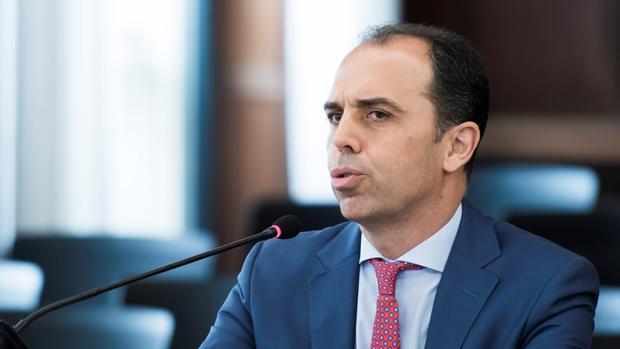 El portavoz de Ciudadanos en Sevilla, Javier Millán, declarando como testigo en el juicio de los ERE
