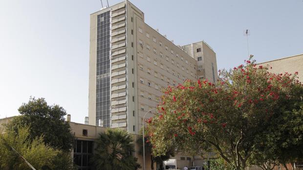 Fachada del hospital de Valme
