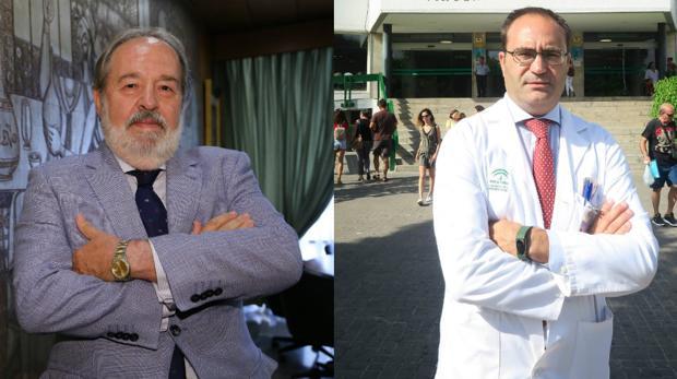 Alfonso Carmona, presidente del Colegio de Médicos de Sevilla -a la izquierda- y Antonio Castro, director del hospital Virgen Macarena