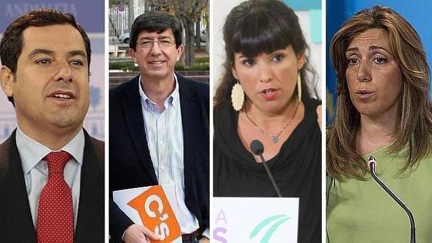 Principales candidatos de las elecciones en Andalucía 2018