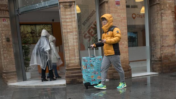 Lluvia y frío en Sevilla