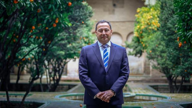 Ricardo Sánchez, en el patio de la Delegación del Gobierno de la Junta