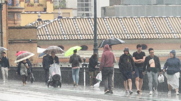 Este lunes será el último día de lluvia en Sevilla de esta semana, según la Aemet