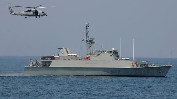 El cazaminas «Tajo» salió de los astilleros de Cartagena y fue botado en junio de 2004