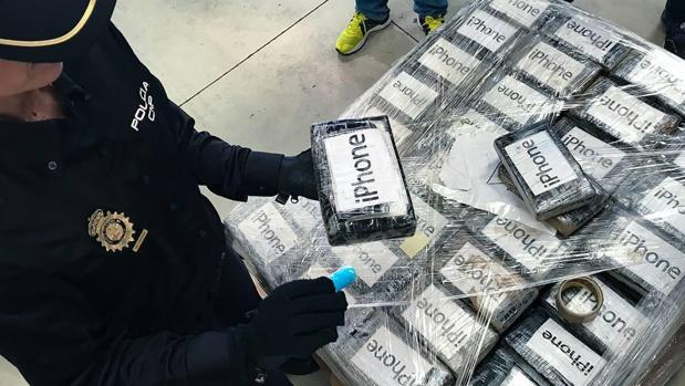 Cargamento de cocana intervenido en una operación anterior en Sevilla