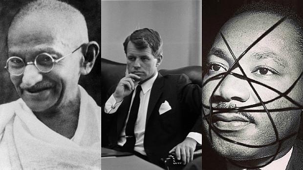 Mahatma Gandhi, Robert Kennedy y Martin Luther King