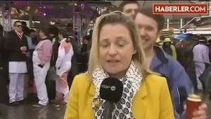 Una periodista belga sufre un acoso sexual durante una retransmisión en directo en Colonia