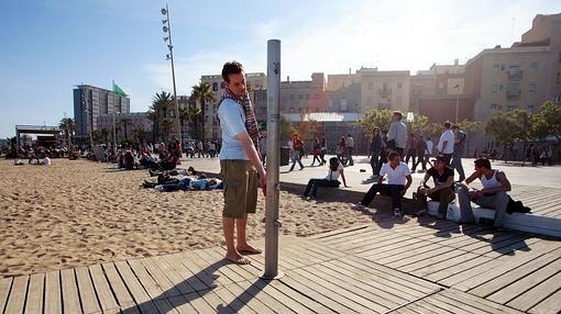 Playa turística de Barcelona