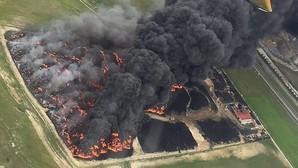 El incendio del vertedero de Seseña, el más grande registrado en Europa