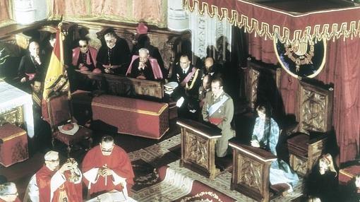 Misa del Espíritu Santo en los Jérónimos el 27 de noviembre de 1975