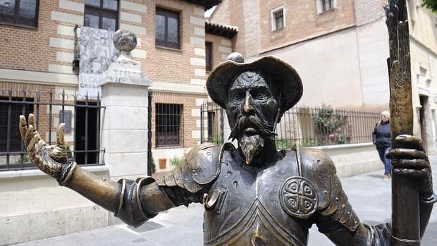 Estatua de don Quijote en Alcalá de Henares (Madrid)