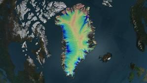 La mayor parte inferior de Groenlandia está descongelada