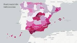 El mapa del robo en España: en Baleares corre peligro tu cartera y en Ceuta tu coche