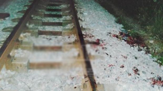Las vías del tren donde tuvo lugar el fingido accidente