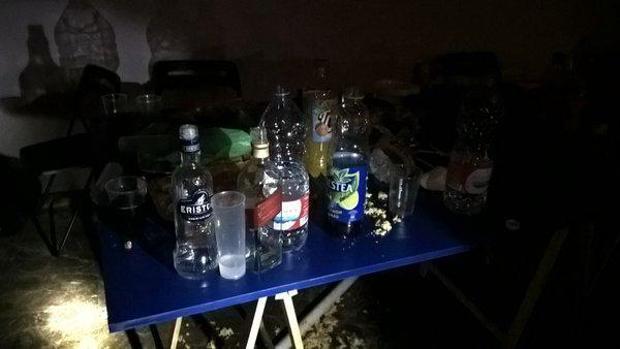 Imagen de una fiesta en la que se ingiere alcohol