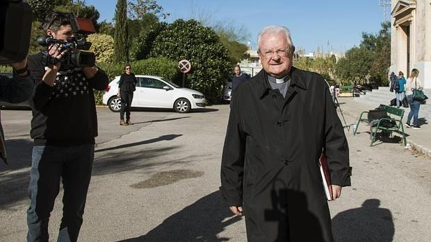 Monseñor Javier Salinas este viernes en el Nuevo Seminario en Palma de Mallorca